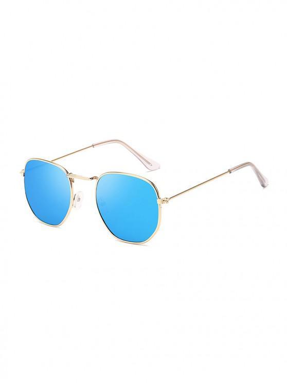sale Metal Square UV Protection Sunglasses - SKY BLUE