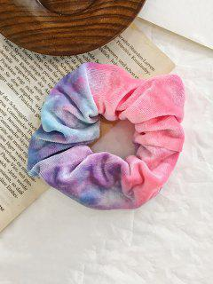 Gradient Water Color Velour Scrunchy - Jasmine Purple