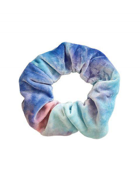Градиент Велюр  Резинка для волос - Небесно-голубой  Mobile