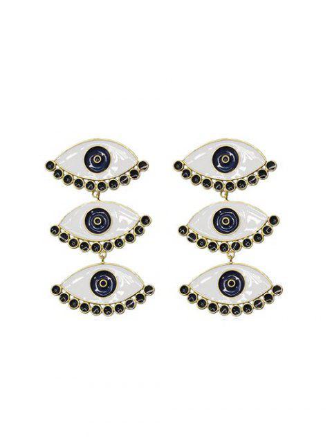 Форма глаза Серьги-пусеты - Золотой  Mobile