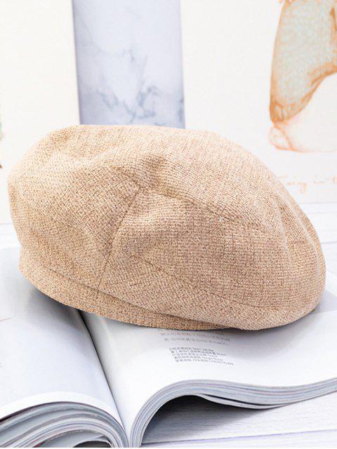 Шерстяный Одноцветный Берет Шляпа - Верблюд-коричневый  Mobile