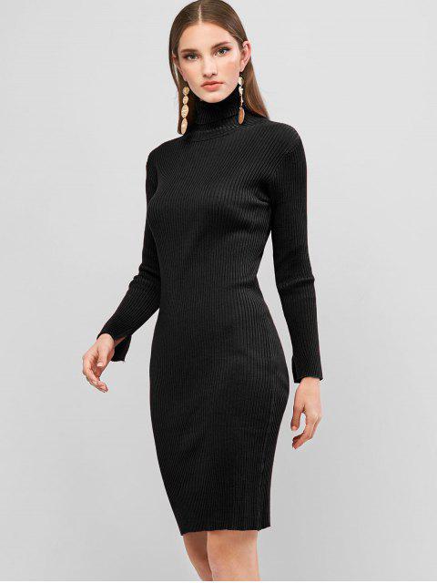 Robe Pull Fourreau à Col Roulé - Noir Taille Unique Mobile