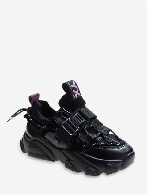 Chaussures de Sport Plate-forme Nouées au Dos - Pourpre Jasmine EU 35 Mobile