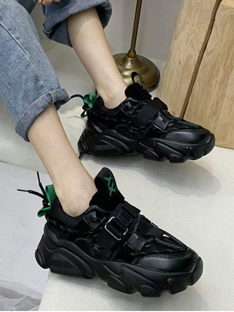 Chaussures de Sport Plate-forme Nouées au Dos - Vert profond EU 38 Mobile