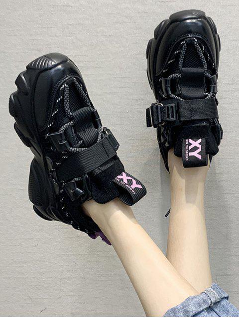 Chaussures de Sport Plate-forme Nouées au Dos - Pourpre Jasmine EU 42 Mobile