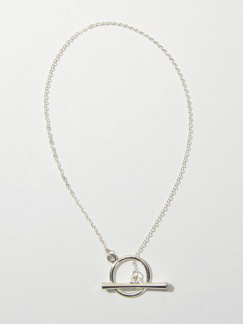 Collier Cercle Barre Simple - Argent  Mobile