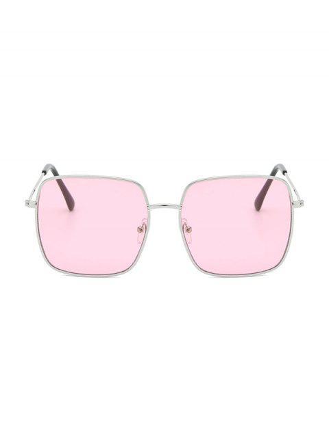 Легкие Металлические Квадратные Солнцезащитные Очки - Розовый  Mobile