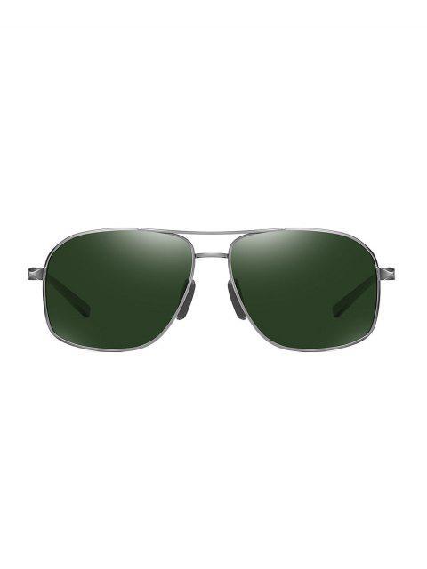Lunettes de Soleil Polarisées Rectangulaires - Vert Foncé  Mobile