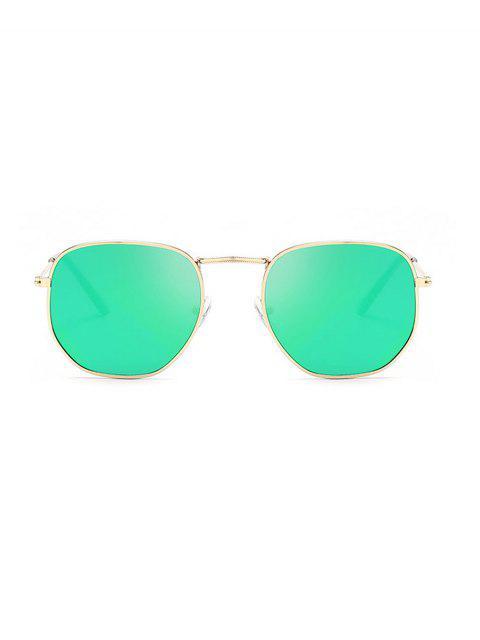 Lunettes de Soleil Carrées Protection UV en Métal - Turquoise  Mobile
