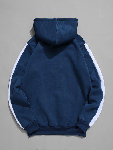Deporte Gráfico bolsillo canguro Fleece con capucha - Azul XL Mobile