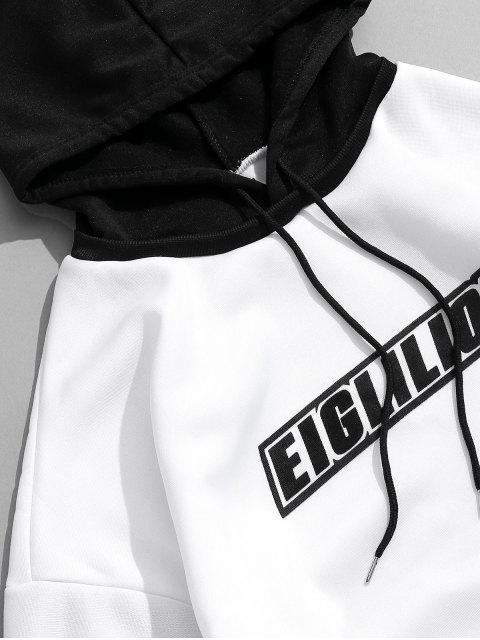 信印刷仿兩件休閒衫 - 白色 L Mobile