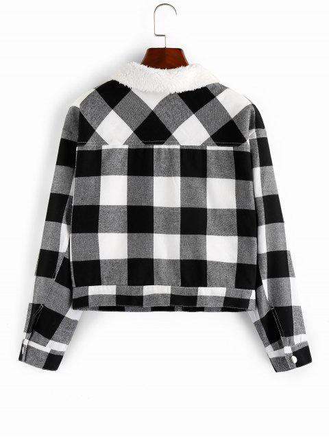 ZAFUL chaqueta de piel falsa de cuadros - Multicolor XL Mobile