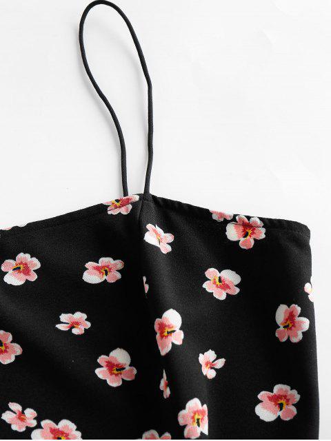 ZAFUL Kleid mit Volant und Blumenmuster - Schwarz S Mobile