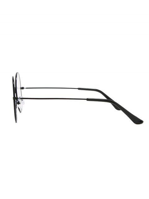 Металл Легкие Круглые Гладкие Очки - Чёрный  Mobile