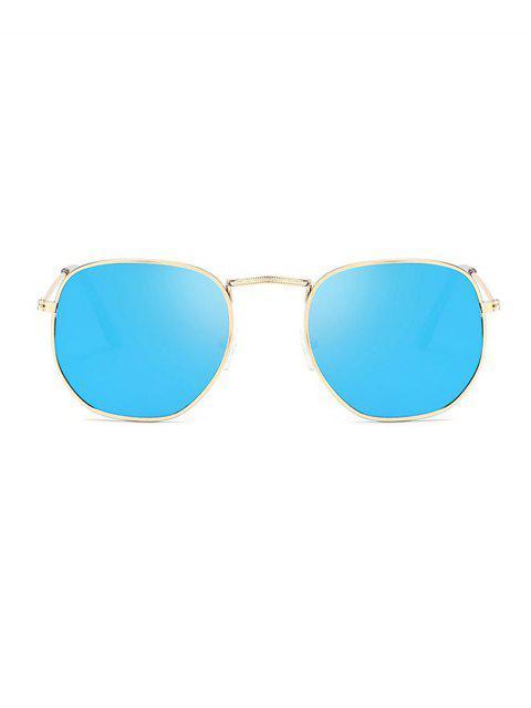 Металл Защита от UV Квадратные Солнцезащитные Очки - Небесно-голубой  Mobile