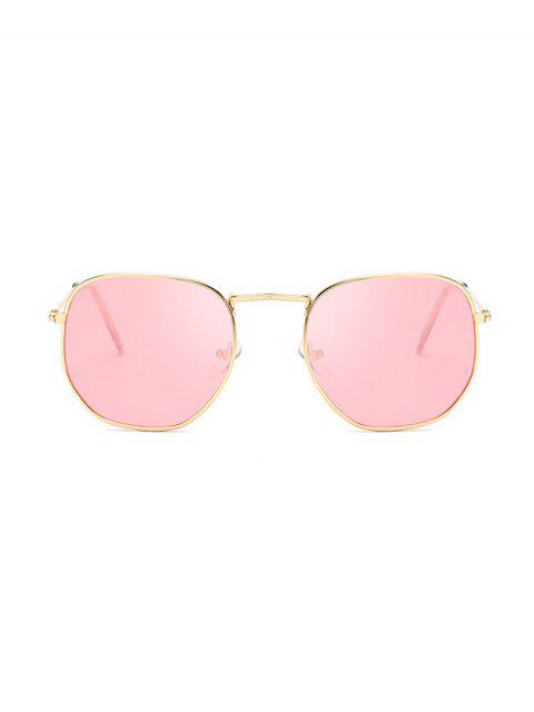 fancy Metal Square UV Protection Sunglasses - PINK  Mobile