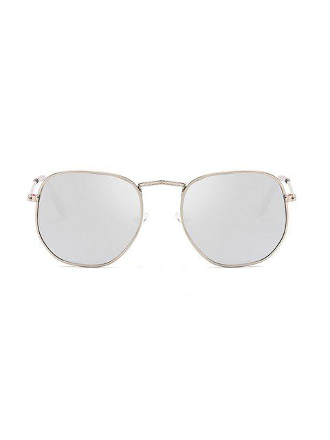 online Metal Square UV Protection Sunglasses - PLATINUM  Mobile