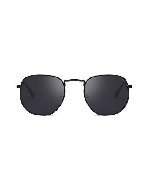 Gafas de Sol Cuadradas con Metal y Protección UV - Negro  Mobile
