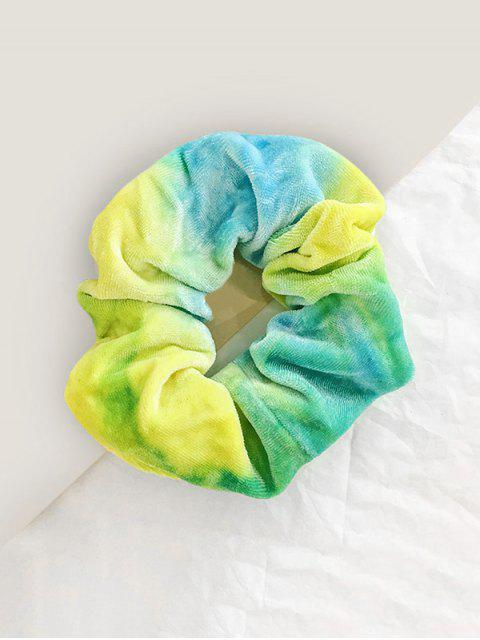 affordable Gradient Water Color Velour Scrunchy - ALGAE GREEN  Mobile