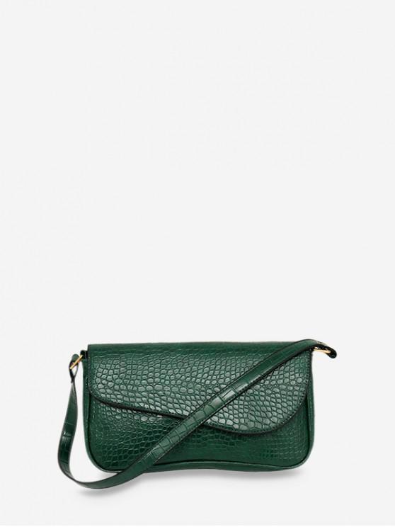 new Retro Small Embossed Shoulder Bag - DEEP GREEN