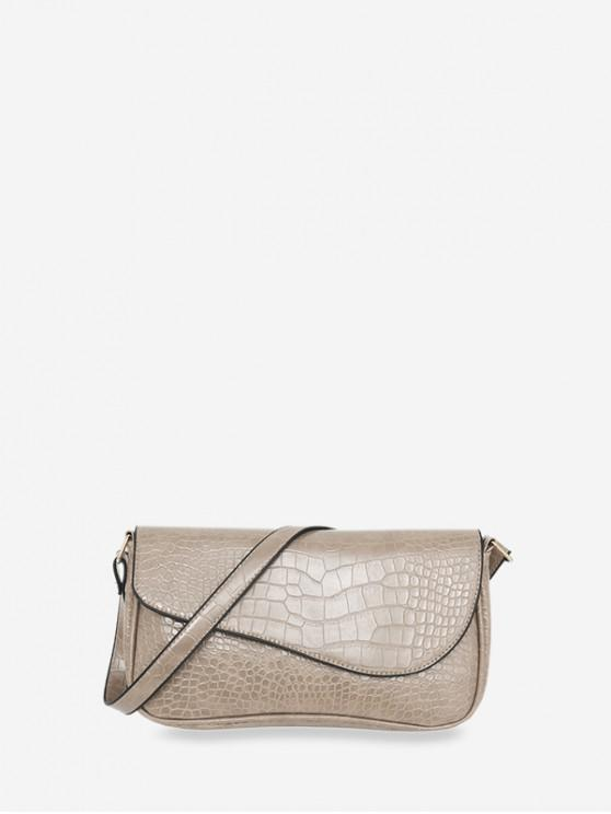 outfit Retro Small Embossed Shoulder Bag - LIGHT KHAKI