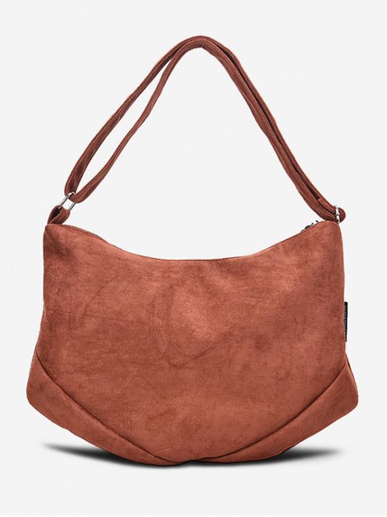 womens Canvas Simple Single Shoulder Bag - LIGHT BROWN