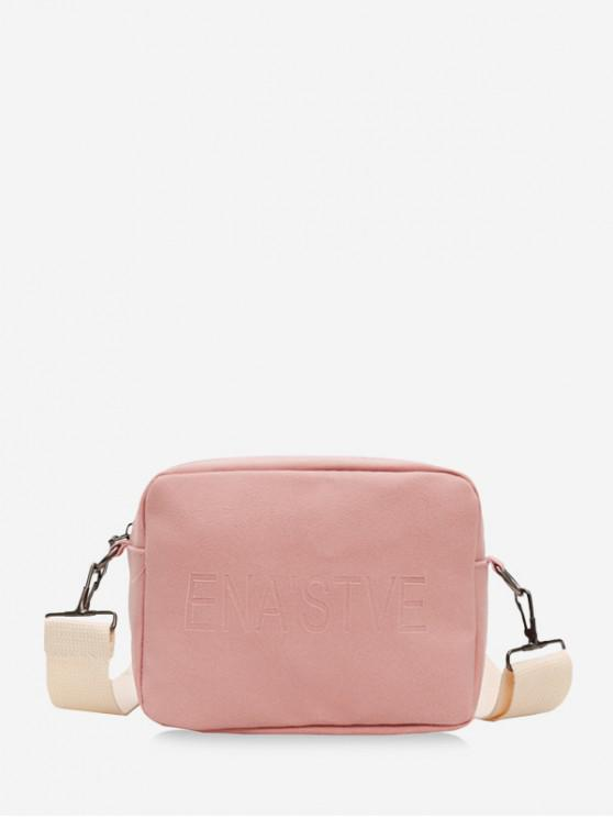 outfits Wide Strap Casual Crossbody Bag - PINK