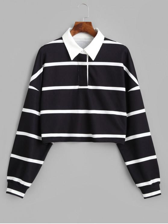 ZAFUL Sweat-shirt Court Rayé - Multi S
