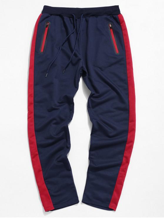 Pantaloni colorblock Striped Cordon Sport - Cadetblue 2XL