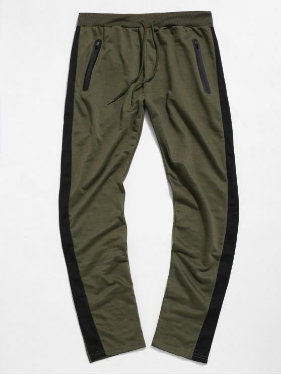 Pantaloni colorblock Striped Cordon Sport - Verde XL