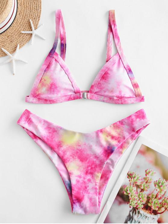 ZAFUL Bikini Badebekleidung mit Vordem Verschluss - Helles Rosa S