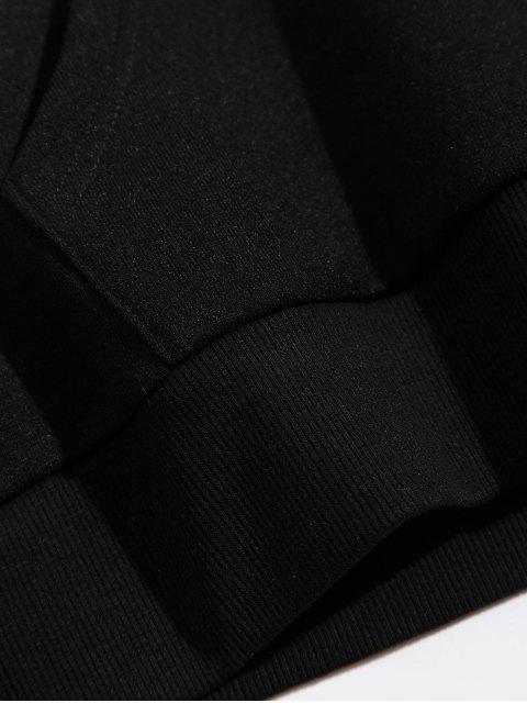 Sudadera con Capucha con Estampado de Colorblock de Empalme Mullido de Color Bloque - Multicolor 2XL Mobile