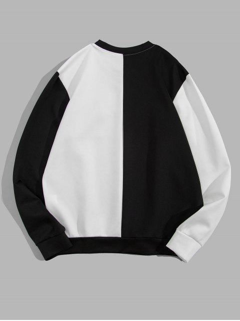 色彩拼接口袋裝飾外套 - 白色 M Mobile