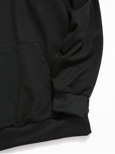 中國信打印袋鼠口袋連帽衫 - 黑色 XS Mobile