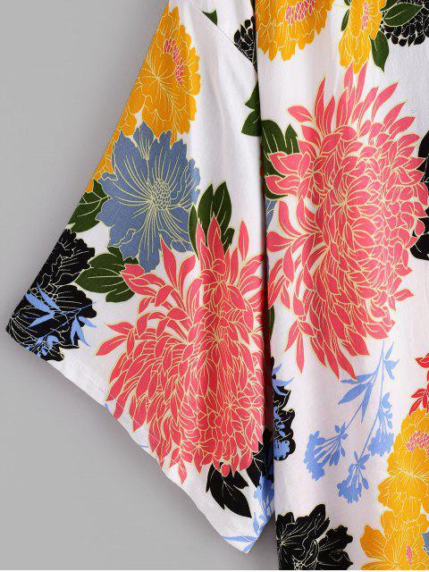 ZAFUL Blumen Fallschulter Kragenlose Vertuschung - Multi-A Eine Größe Mobile