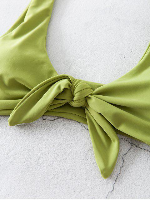 ZAFUL花接高電平腿比基尼泳裝 - 開心果綠色 M Mobile