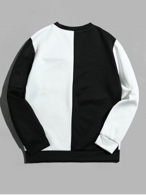 雙色信翼口袋拼接外套 - 白色 L Mobile