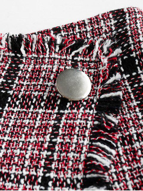 ZAFUL Falda de Envoltura de Tweed - Multicolor-H L Mobile
