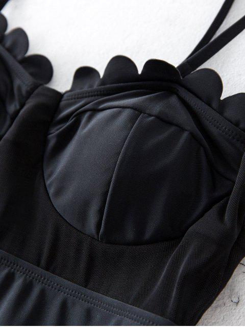 ZAFUL Badebekleidung mit Überbackenem Bügel und Maschen - Schwarz M Mobile