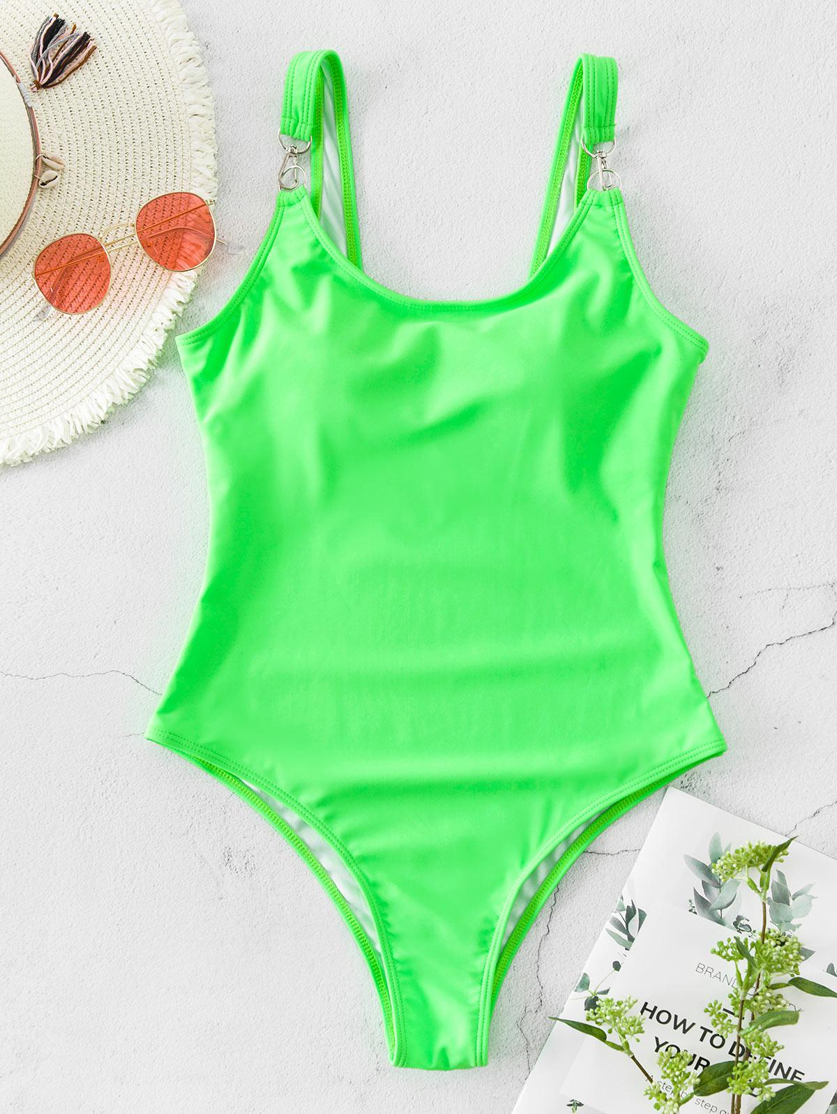 ZAFUL Snap Hook Neon One-piece Swimsuit фото