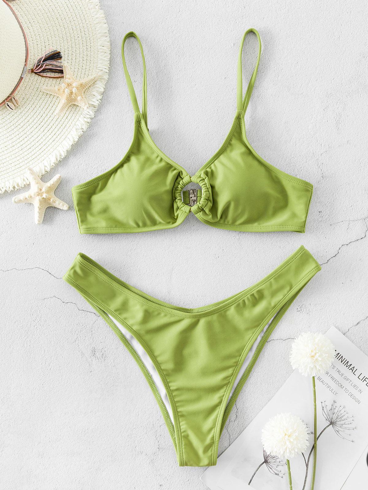 ZAFUL Ring High Leg Bikini Swimsuit фото
