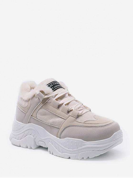 مزيج المواد الصوف عارضة أبي حذاء رياضة - اللون البيج الاتحاد الأوروبي 36