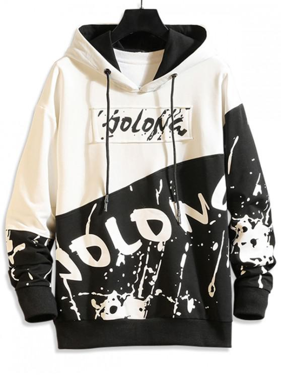 trendy Letter Graphic Printed Casual Style Hoodie - WHITE XS