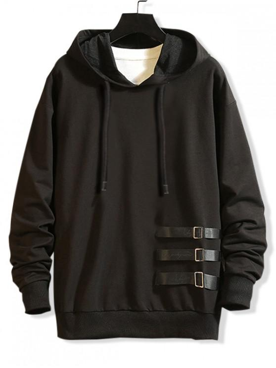 hot Letter Graphic Pattern Casual Style Hoodie - BLACK L