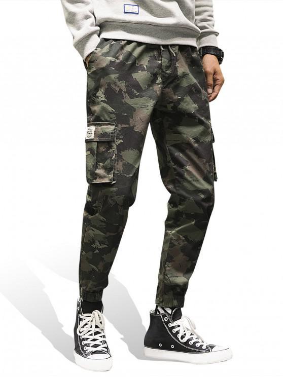 Cópia de Camo bolso Decoração Jogger Pants - Camuflagem da Madeira  XL