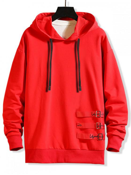 outfits Letter Graphic Pattern Casual Style Hoodie - RED 2XL