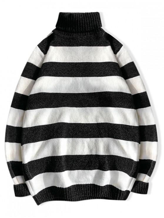 Helancă Striped Casual chenille Pulover - Multi-A M