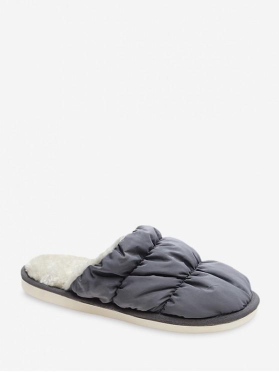 A prueba de agua zapatos planos de cubierta de tela acanalada - Gris EU 39