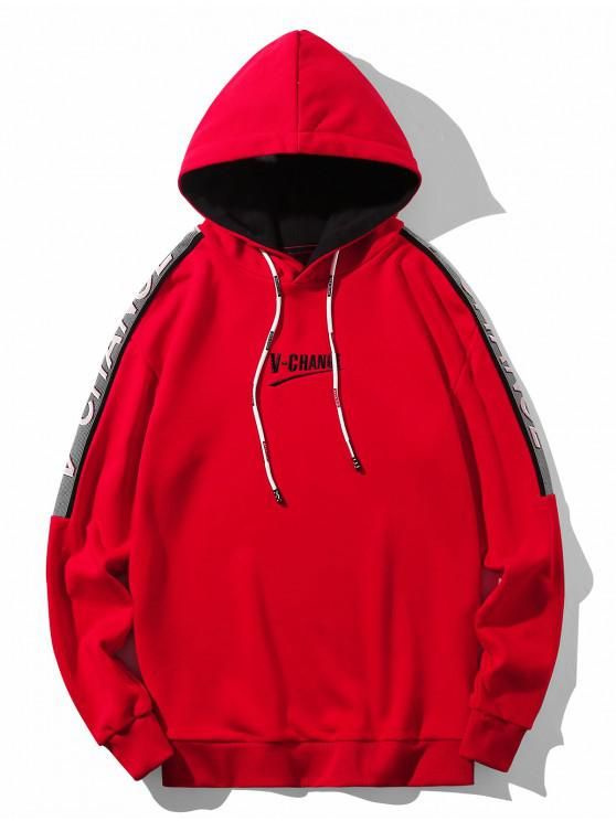 outfits V Change Graphic Lounge Drawstring Hoodie - RED M