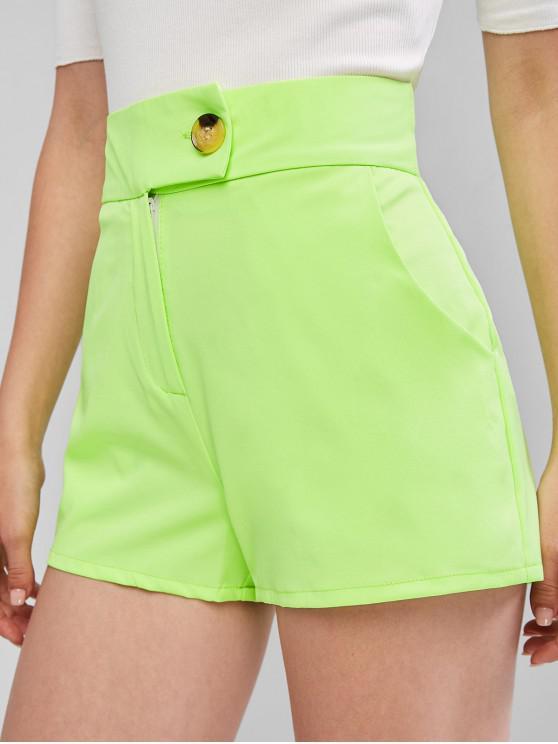 ZAFUL Neon Pantaloncini a vita alta - Verde XL